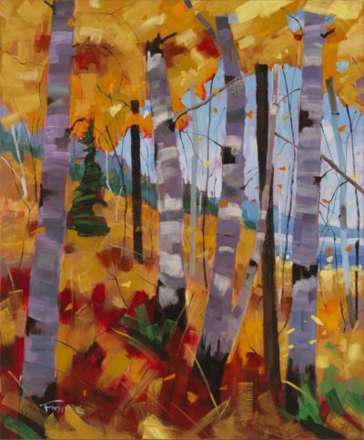 October Canopy Triptych - Left canvas