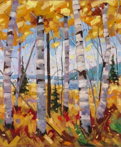 October Canopy Triptych - Middle canvas
