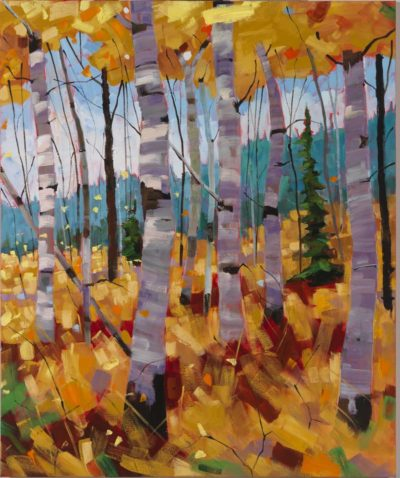 October Canopy Triptych - Right canvas